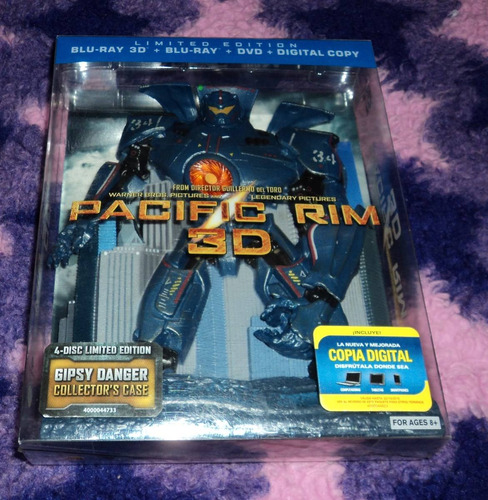 Pacific rim 3d blu ray dvd jaeger case edition usa rm4