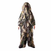 Traje De Camuflaje Kids Ghillie Suit, Woodland Camouflage