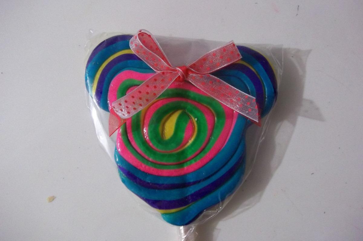 Paleta De Caramelo Tipo Mickey Mouse Y Minnie - $ 13.00 en
