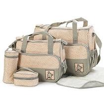 Faswin 5 Piezas De Pañales Bolsas De Mano Set (caqui)