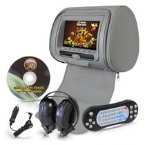 Cabecera Dvd Monitor Para Auto 7 Con Audífonos Inalámbricos