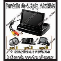 Pantalla 4.3 Abatible Con Camara De Reversa Contra Agua If