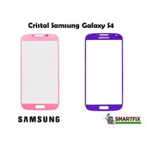 Cristal Samsung Galaxy S4 I9500 Morado Y Rosa Display Touch