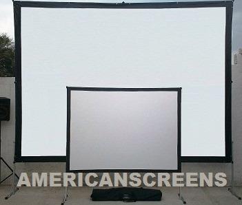 Pantallas Gigantes American-screens Fastfold Proyeccion Dual