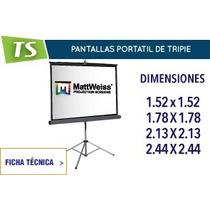 Pantalla De Proyección De Tripie 152x152 Nuevas Con Garantia