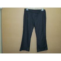 Pantalon D Vestir Negro Con Rayas P/dama 5-30 Nuevo