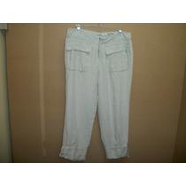 Precioso Pantalon Capri Casual Dkny Hueso P/dama 6-32
