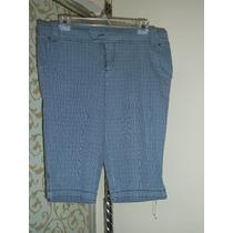 Pantalon Capri Casual De Rayas Mossimo 11-34 Azul C/rayas