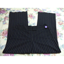 Pantalon De Vestir Byer Negro C/rayas D Gis P/dama 12-38
