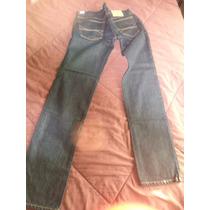 Pantalon De Mezclilla Hollister Skinny 34x34