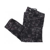 Pantalón Negro Con Flores Hudson
