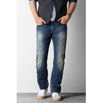 Pantalón Mezclilla American Eagle Straight Jeans