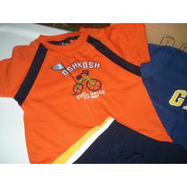 2 Camisas Y 1 Short Gap, Oshkosh, Children´s Talla 2t Vbf