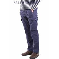 Pantalon Polo Ralph Lauren Cargo Azul 35x32 100% Original
