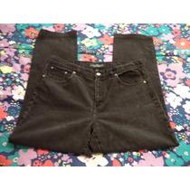 Pantalon De Mezclilla Ralph Lauren Negro Dama 12 Amer 38 Mex