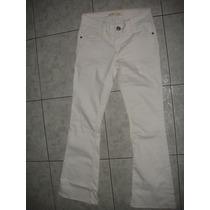 Pantalon Jeans Blancos Para Mujer Usados Talla 5