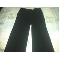 Pantalon Vestir Negro Rayas Vi Line Talla 11 =34mex