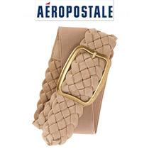 Cinto Chico Aeropostale S Beige Dorado Stretch Cinturon Fajo