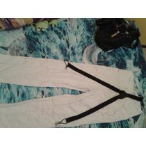 Pantalón De Vestir Raya De Gis Zara Con Tirantes Vv4