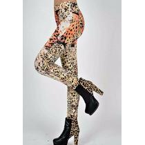 Leggins Estampado Tigre Super Diseño Muy A La Moda ***