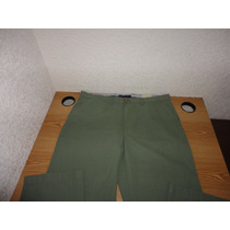 Pantalon Tommy Hilfiger Verde 36x34 Gabardina 100% Original