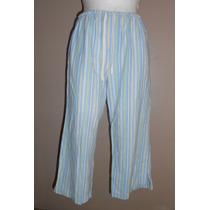 Jockey! Lindo Pantalón De Pijama A Rayas, Capri, Talla S