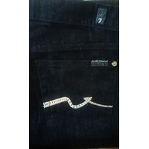 Seven For All Mankind Jeans Con Swarovsky Para Dama 28 Reg.