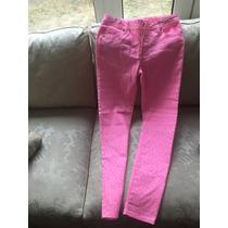 Jeans Niña 14 Rosa Puntitos Blancos Cherookee