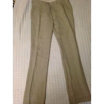 Pantalon De Vestir Zara Man Color Cafe Talla 30 Vestir