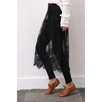 Suku 60548 Leggings Con Falda De Encaje Moda Japón $499