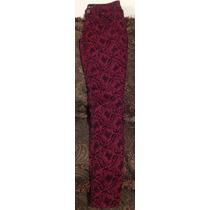Pantalón Vintage Retro Fashion Skinny Negro /rojo