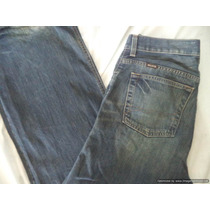 Jeans De Mezclilla Hollister Boot Cut 32 X 32 Color Azul