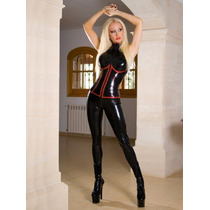 Catsuit Leggings Bodysuit Latex Pvc Brilloso Strech Leggins