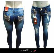 Pantalones Colombianos Levanta Pompa Cristales Jeans Mayoreo