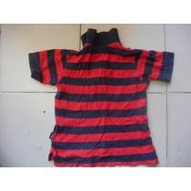 Camiseta Talla Ch Tipo Polo Para Niño Marca Weekend Rayada