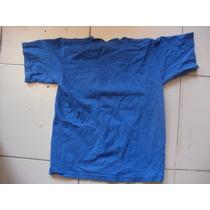 Camiseta Talla Ch Para Niño Color Azul Estampada Marca Tessh