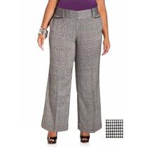 Lindo Pantalon Casual Cuadros Negro C/ Blanco Talla Extra Xl