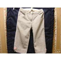 Pantalon Pescador Gymboree Rayas Gris-blanco Talla 6