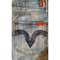 Seven For All Mankind Jeans Para Dama Mod. Hefner 29r. True.