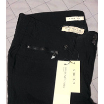 Pantalón Negro Vestir, Formal,casual Stretch.jones New York