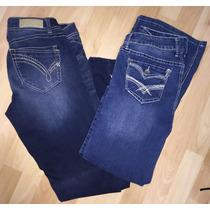 Lote De 2 Pantalones Mezclilla Mujer Rewind Y Jade