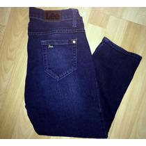 Jeans Mezclilla Lee - Pantalón Capri Stretch Talla 7