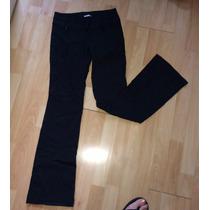 Pantalon Americano Rave Stretch Ajustable En Negro