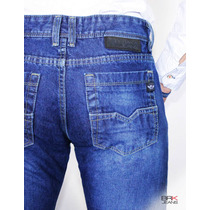 Jeans Caballero Corte Slimfit Mezclilla Rígida - Envíogratis