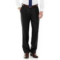 Pantalon Axist Vestir Tallas Extra 42x30 Negro 40% Descuento