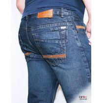 Jeans Caballero Corte Slim Mezclilla Vinipiel - Envíogratis