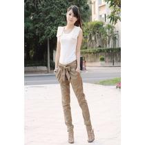 Pantalón Caqui Moda Asiática Japonesa Mujer