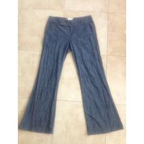 Pantalon De Lino Tipo Mezclilla Ivonne Ive Talla 7