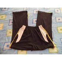 Pantalon Pants Negro C/amarillo Para Caballero 32