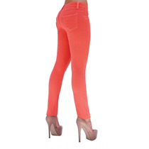 Pantalon Skinny Stretch Rumbo Color Coral